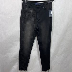 Rachel Roy Jeans High Rise Cropped Distressed 32